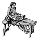 Gravure - Treillage à l'ancienne